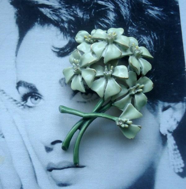 """BSK Signed """"My Fair Lady"""" Eliza Doolittle Nosegay of Violets Brooch *SOLD*"""