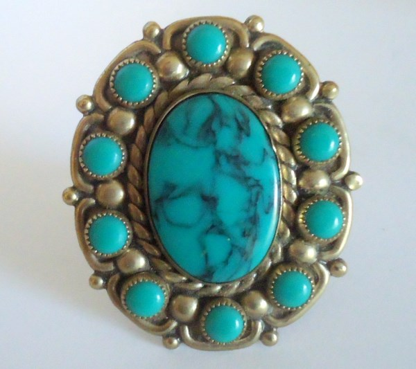 Southwestern Faux Turquoise Statement Ring *SOLD*