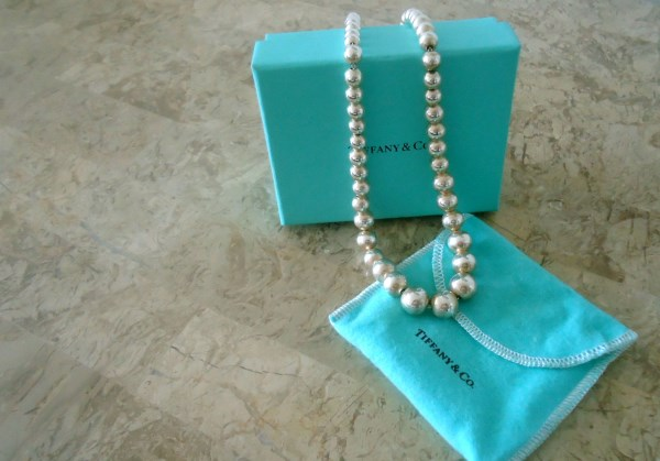 TIFFANY & CO. Sterling Silver Ball (Pearl) Necklace *SOLD*