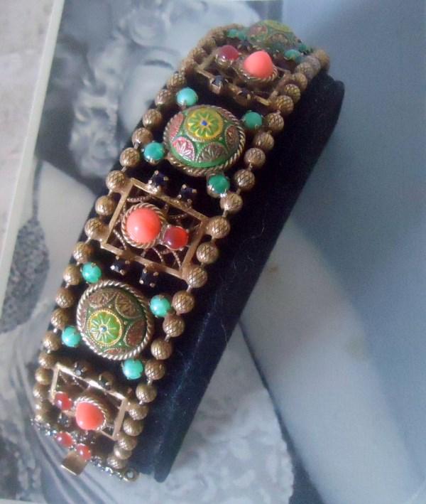 DeLizza and Elster a/k/a Juliana Moroccan Matrix Filigree Ball Chain Bracelet VERY RARE