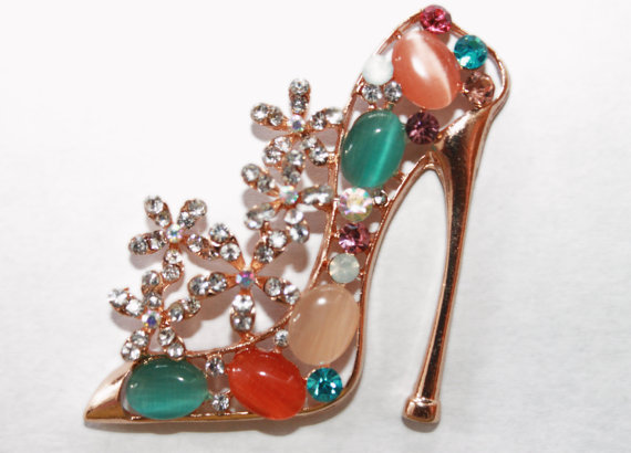 Moonglow Cabochon and Rhinestone Stiletto Statement Ring
