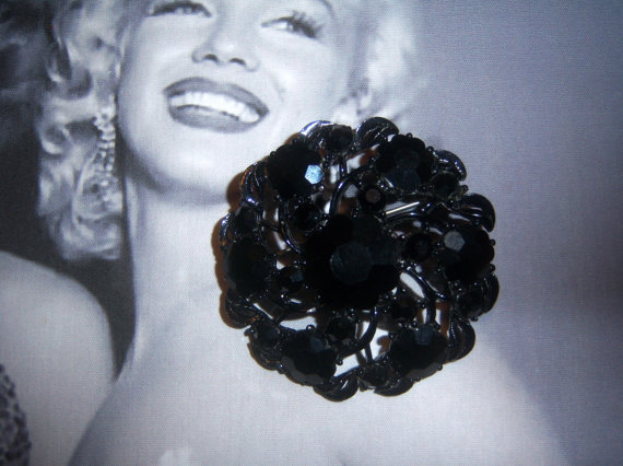 Weiss Mourning Brooch (signed)